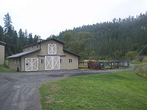 Barn with sleeping quarters